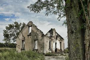 övergivet hus - kansas foto