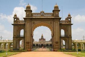 palatset av mysore i Indien foto
