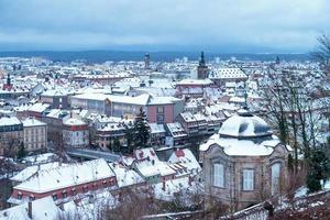 bamberg vinterstad foto