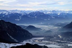 inntal med Innsbruck på vintern