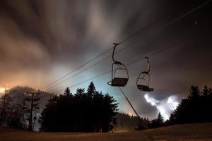 vinterberg Tyskland på natten foto