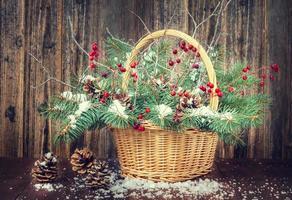 vinterbukett till jul foto