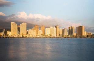 panorama över waikiki honolulu hawaii foto
