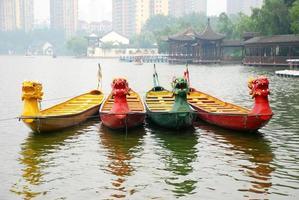 färg drakbåtar foto