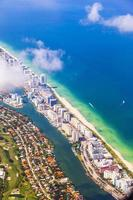 antenn av kustlinjen Miami foto