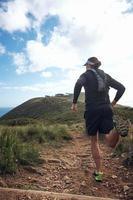 trail man kör foto