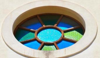 rosone della cattedrale di ibiza foto