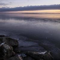 sjö på vintern foto