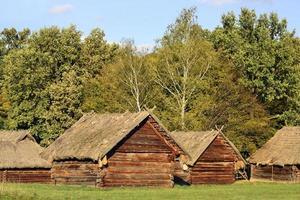 gamla ukrainska hus foto