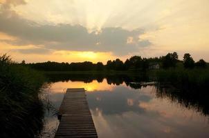 lake wigry. polen foto
