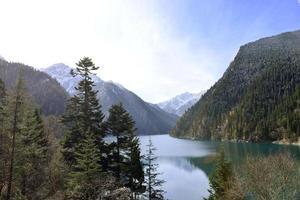 lång sjö, jiuzhaigou