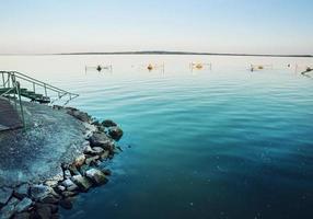 sjön balaton, hungary foto