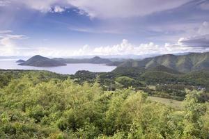 landskap bergsjön foto