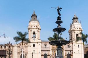 archiepiscopal palace i lima peru foto