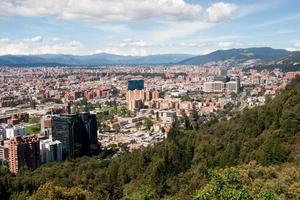 utsikt över bogota, colombia foto
