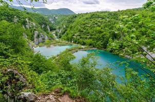 plitvice-sjöar i Kroatien foto
