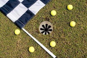 golf flagga foto