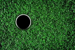 golfbana hål foto