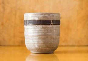 japansk keramik te kopp foto