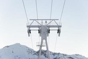 franska Alperna stollyft foto