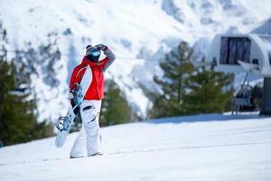 snowboardåkare foto
