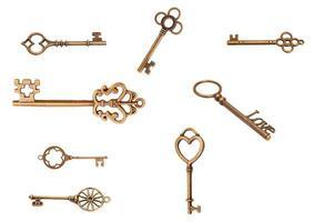 vintage nycklar foto