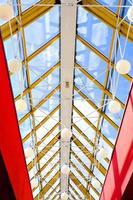 blå abstrakt tak i office foto