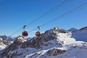 bergen skidort - Innsbruck Österrike foto