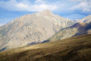 solsken i pyrenéerna i Andorra