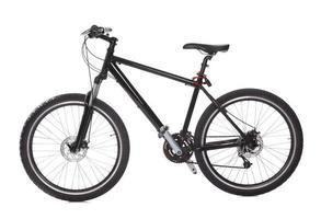 svart mountainbike