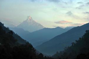 annapurna-massivet. nepal.