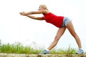 sportövning foto