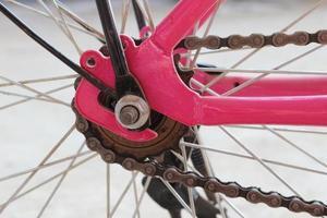 vistelse i cykelkedjan foto