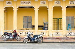 motorcyklar på tay ninh, Vietnam foto
