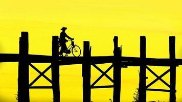 bein bridge, myanmar foto