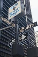 usa - new york - new york, vägskylt foto