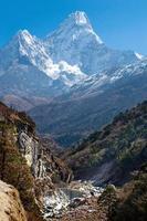 ama dablam-massivet, nepal himalaya