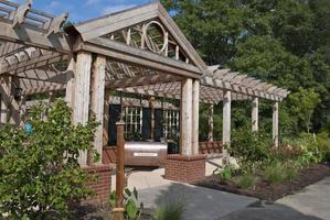 trädgårdsportikon foto