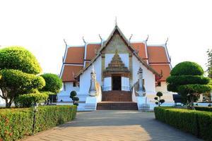 traditionell thai stilmönster dekorativ i templet foto