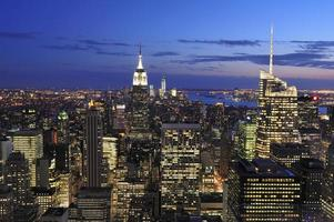 new york city skyline, manhattan, new york foto