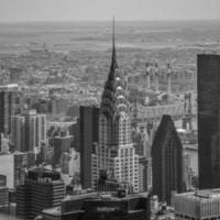 new york city skyline birdsview foto