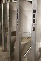 new york: tunnelbana turnstile foto