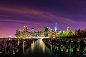 downtown manhattan horisont från Brooklyn