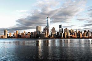 New York Citys finansdistrikt foto