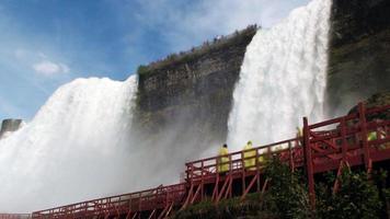 scen med berömda niagara falls av New York USA foto