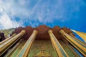 wat phra kaew i bangkok - templet för smaragd buddha foto