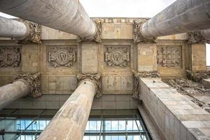 tysk parlament (riksdag) byggnad i Berlin foto