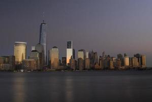 new york kväll foto