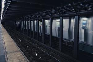 New York tunnelbanestation foto