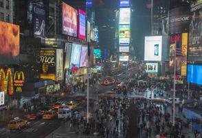 gånger fyrkantig New York foto